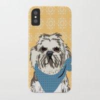 shih tzu iPhone & iPod Cases featuring Shih Tzu Dog Art by ialbert