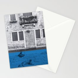 Two cats in blue Stationery Cards