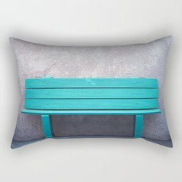 Green Bench Rectangular Pillow
