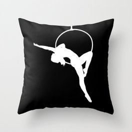 Lyra Aerialist Silhouette Throw Pillow