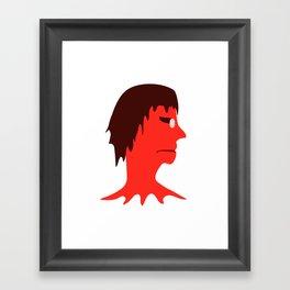 Monster with Men Head Illustration Framed Art Print