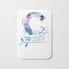 ''C'' like clever quote Bath Mat
