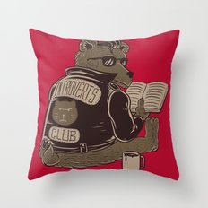 Introverts Club Throw Pillow