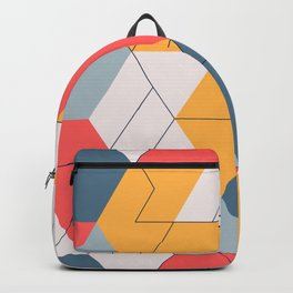 Geometric colors and lines pattern Backpack