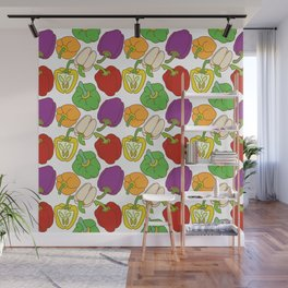 Bell Peppers Pattern Wall Mural