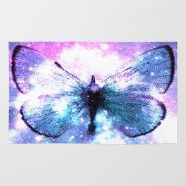 Celestial Butterfly Pink Lavender Teal Rug