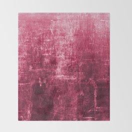 Pink Distressed & Textured Paper Design Throw Blanket