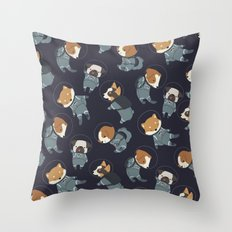 Space Dogs Throw Pillow