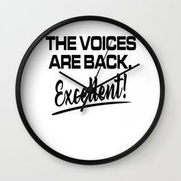 Sarcasm votes Crazy Psycho funny gifts Wall Clock