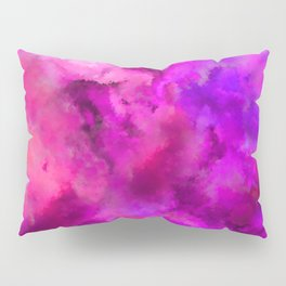 Abstract Pour Art - Pink and Purple Pillow Sham