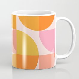 Mid Century Mod Geometry in Pink and Orange Coffee Mug