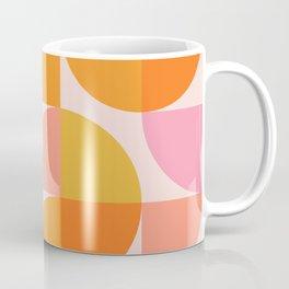 Mid Century Mod Geometry in Pink and Orange Coffee Mug