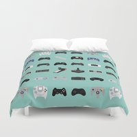 evolution Duvet Covers featuring Console Evolution by Dorothy Leigh