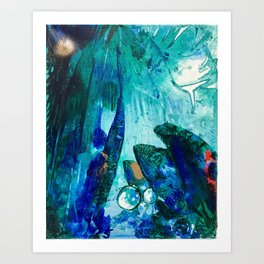 Bright Ocean Spaces, Tiny World Collection Art Print