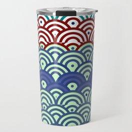 Art Deco Seigaiha 2 Travel Mug