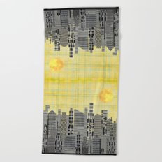Plaid City Beach Towel