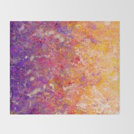 Abstract Art in Sunset Palette Purple Throw Blanket