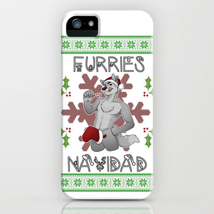 furries navidad iphone case