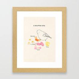 A Balanced Diet Framed Art Print