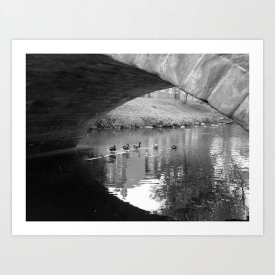 Under the Bridge #1 Art Print
