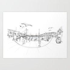 Brixham Art Print