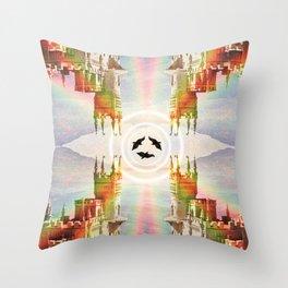 Noirs Corridors Throw Pillow