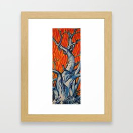 Fire and Ice Tree Framed Art Print