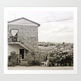 Living in the Italian countryside Art Print