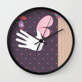 ScrapBird Wall Clock