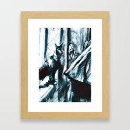 Andrei Tarkovsky and the Black Dog Framed Art Print