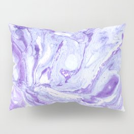 Purple & Blue Marbling Pillow Sham