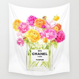 FLORAL No.5 PERFUME Wall Tapestry
