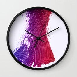 Color Smear Dance Wall Clock