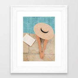 On the edge of the Pool II Framed Art Print