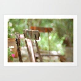 Trois Chaises, Atelier de Cézanne ~ Three chairs in garden, Cezanne's home Art Print
