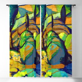 Charles H. Walther Abstract Landscape Blackout Curtain