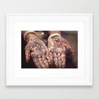 henna Framed Art Prints featuring henna by Floyd Triangle