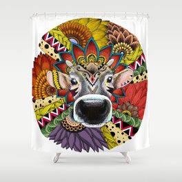 TRIBAL COW Shower Curtain