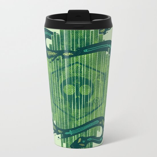 Green is the Color of Death Metal Travel Mug