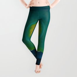 Winter Moonlight Mountain Landscape by Rockwell Kent Appalachian Leggings
