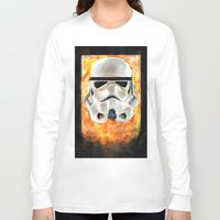 stormtrooper Long Sleeve T-shirts featuring Stormtrooper by Mishel Robinadeh