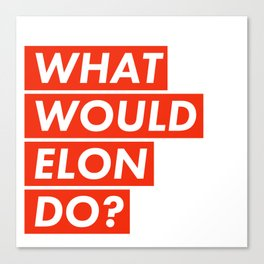 WHAT WOULD ELON DO? Canvas Print