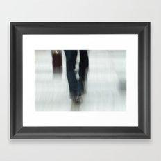 Just Walking Framed Art Print