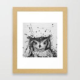 """""""SWOOP"""" Black & White Framed Art Print"""