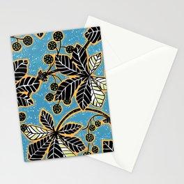 Chestnut Leaves Stationery Cards
