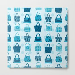 Handbag Heven Blues with Spots Metal Print