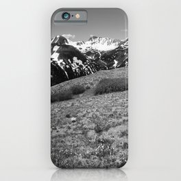 Independence Pass - View of Rocky Mountains in Colorado in Black and White iPhone Case