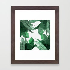 Tropical Palm Print Framed Art Print