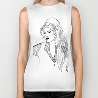 amy poehler Biker Tanks featuring Amy by Rosalia Mendoza