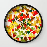 lights Wall Clocks featuring Lights by SensualPatterns